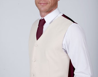 Merlot Wedding / Prom Waistcoat by Matchimony available with Matching Items