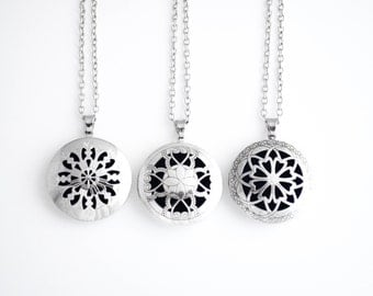 Simplicity Silver - Adult Essential Oil Diffuser Necklace