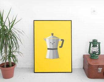 Moka Pot Print  | Digital Download