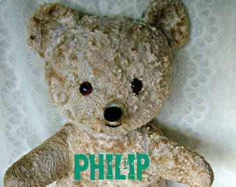 Philip old Teddy bear - repaired- FREE shipping