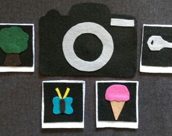 I Took A Picture Guessing Game Felt Board Set// Flannel Board Story Set // Preschool // Teacher Story // I Spy // Fun // Classroom