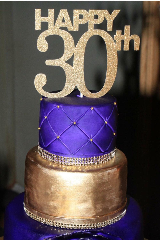 30th Birthday Cake Topper 30th Cake Topper 30 Birthday Cake