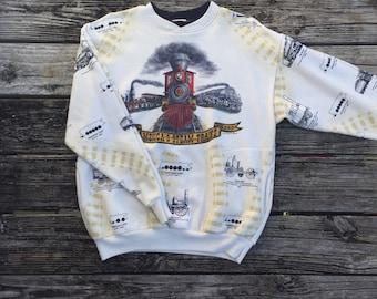 VINTAGE Trains Crewneck Sweatshirt