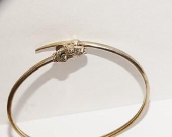 """Vintage Sterling Silver RARE RAM 7.5"""" Bracelet."""