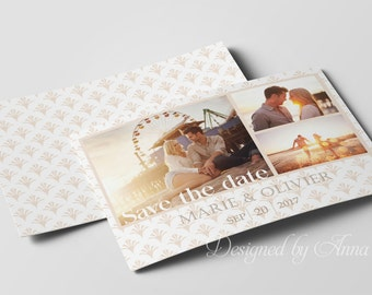 Photographer save the date template photography save the date design instant download save the date photoshop engagement announcement card