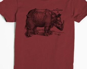 Women's T-shirt - Rhinoceros Shirt - Albrecht Durer Tshirt - Rhino shirt - graphic tee