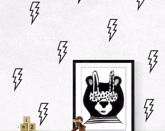 Superhero wall decal, bolt wall decal, superhero wall art, lightning bolt decal, lightning bolt wall decal, superhero wall decals, #063