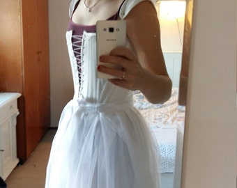 Renaissance corset stays white linen - custom made - choose your size
