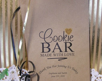 Personalized Cookie Bags - Wedding Cookie Bags - Cookie Bar Bags - Cookie Buffet - Made With Love C03-P18