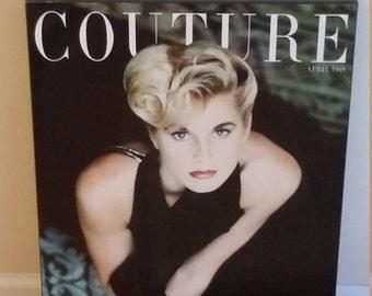 Fashion art, 60's art, 60's poster, magazine art, dressing room decor, bedroom decor, bathroom decor, 60's fashion poster