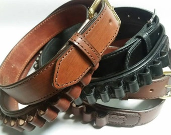 Full Grain Leather Cartridge  Belts