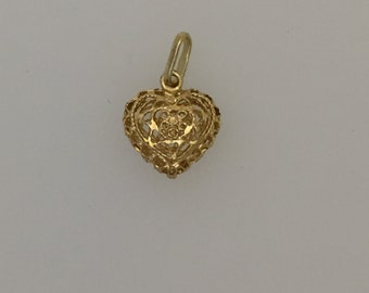 9ct Gold Decorative Heart