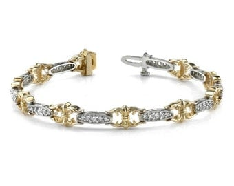 1 Carat Diamond Bracelet - Vintage Style - Cyber Monday - Black Friday 2016 Deals - Christmas Gifts for Women - Anniversary