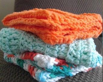 Crocheted Washcloths- set of 3