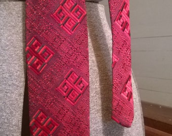 Vintage tie- red and black