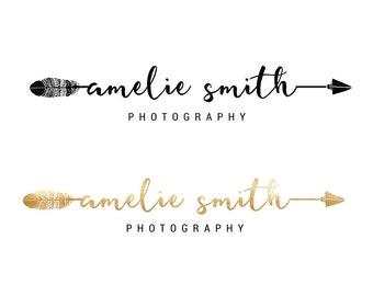 Photography Logo Duo   Calligraphy logo   Cute logo   Wedding Photography Logo   Modern logo   Script Logo   Arrow logo
