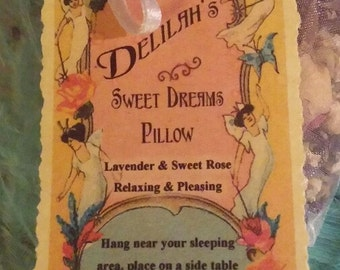 SWEET DREAMS PILLOW Lavender and Rose - large