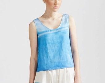 Blue Skies Silk Tank Top