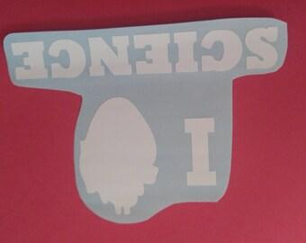 I Love Science Vinyl Sticker