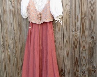 Vintage Linen Skirt Renn Faire Fairy Garb Costume