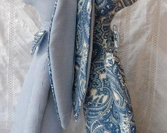 blue bow tie bunny