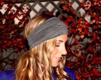 Buy 2 Get 1 FREE!! DarkGrey Flat, Wide Yoga Headband, Fitness Headband, Workout Headband, ...