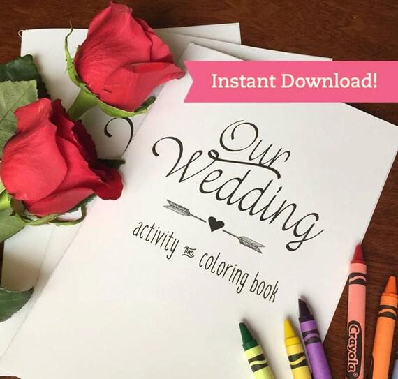 Wedding Coloring Book Printable Download Children Kids