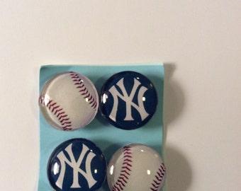 New York Yankee Baseball magnets
