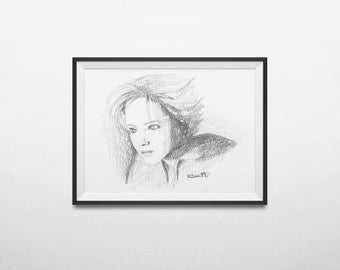 Portrait hide. Illustration giclee.