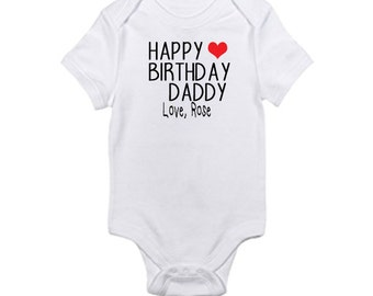 Happy Birthday Onesie - Daddy, Grammy, Mommy, Auntie, Uncle, etc.