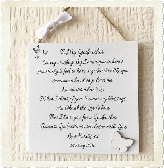 Godmother Wedding Gift: Godmother Bride Groom Gift Thank You Personalised Wedding