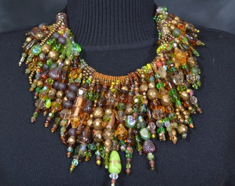 Beads, Beads, Beads.  Dramatic Necklace,