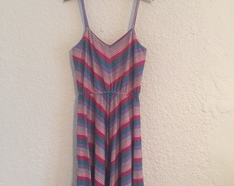 Vintage Multi-Color Striped Dress