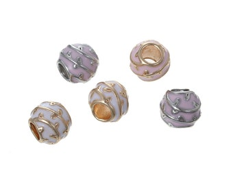 20 Copper European Style Large Hole Charm Beads, European Charm Supplies, Beads for Jewelry Making, Jewelry Supply, 6813, 902a
