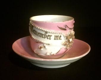 Remember Me Memorial Demitasse Cup and Saucer  VG2117