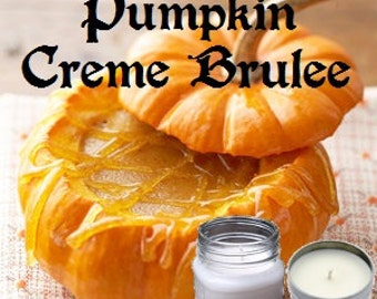 Pumpkin Creme Brulee - Soy Candle - 8 oz Soy Wax Mason Jar or Tin Candle, Handmade Hand Poured Pick Your Style and Color - Fall Scent