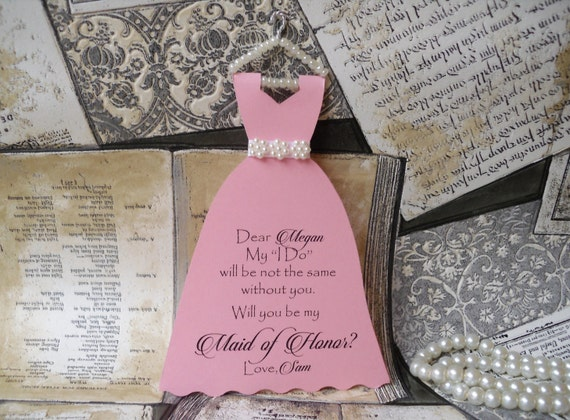 Will you be my bridesmaid Proposal Card Dress Be My Bridesmaids Gift CArd Bridal Party Lavander favors