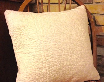Quilted Ivory Pillow