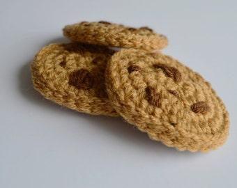 Crochet Chocolate Chip Cookies, Play food