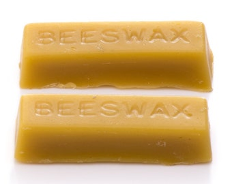2 Pure Beeswax blocks - 100% pure beeswax - Free P&P in UK
