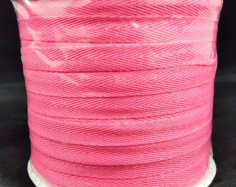 Hot Pink Twill Tape 100 yd roll. Top Quality.