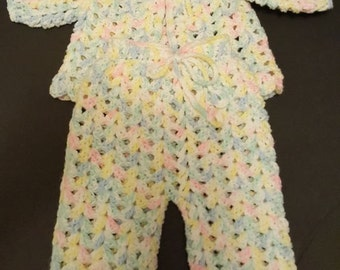 Crochet Baby Sweater and Pants