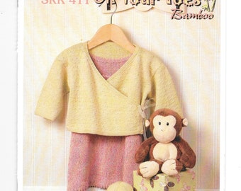 Infant Knitting Patterns, Kertzer SRK 411, Easy Knitting Patterns for Babies, Infant Patterns, Patterns for Bamboo Yarns,  Toddlers Patterns