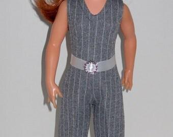 Ideal Crissy, Brandi, Tressy doll clothes Grey/White Pinstripe Jumpsuit