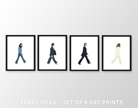 Beatles wall art beatles art abbey road art print beatles wall art
