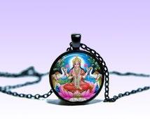 Lakshmi Pendant Lakshmi NECKLACE Jewelery Amulet Charm Pendant for Him or Her