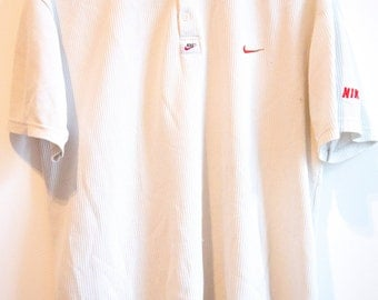 Rare Nike Polo waffle with double swoosh on the collar size M