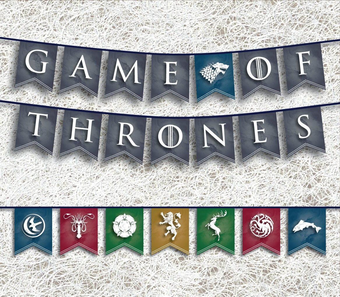 game of thrones banner printable party supplies got party