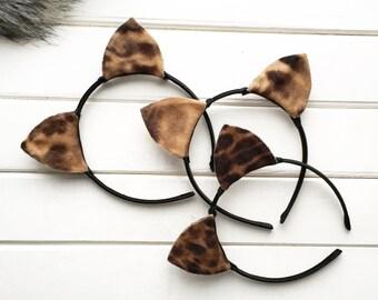 Cat Ears, Animal Ears, Ears Headband, Costume ears, Baby headband, Party ears, Cat costume, Leopard ears, Ariana ears, Cosplay ear, Tiger