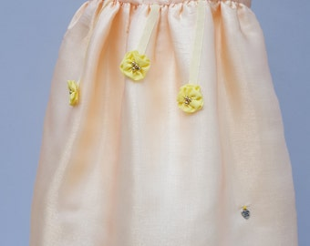 Flower girl dress, Bridesmaid Dress, Baby Girl Birthday Party Dress, Special Occasion dress, Honey & Gold Dress. 9 to 12 months by JQDresses